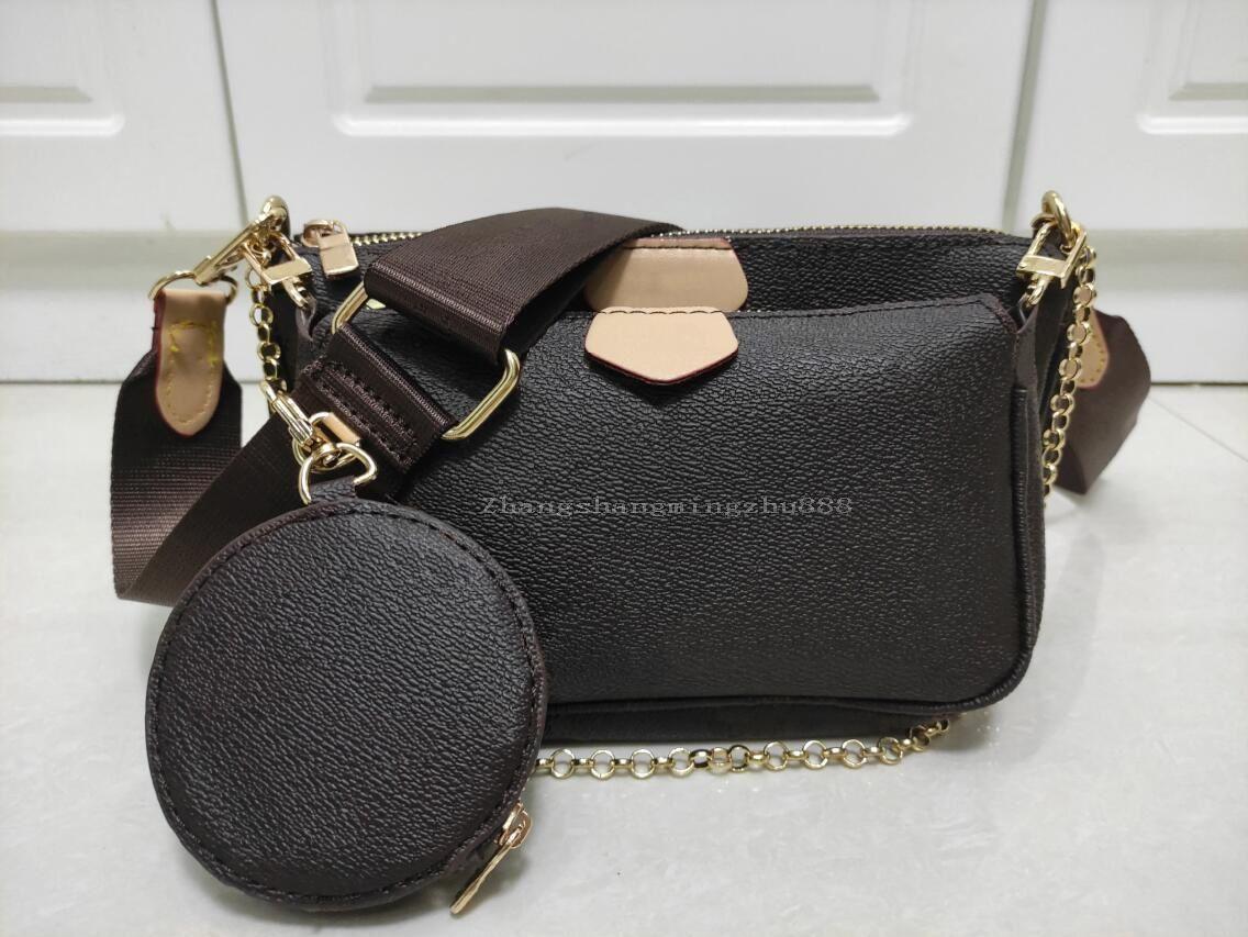 حقائب حقائب النساء حقائب 3 قطعة / المجموعة أزياء متعددة pochette اكسسوارات عالية الجودة سلسلة سيدة crossbody رسول حقيبة عملة محفظة
