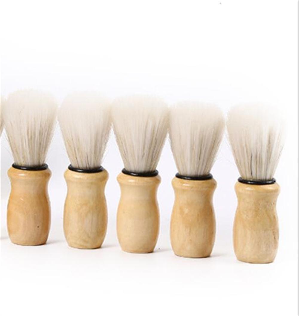 Bristles pincel de barbear de cabelo para homens pincéis de madeira de madeira, texugo ferramenta de salão profissional