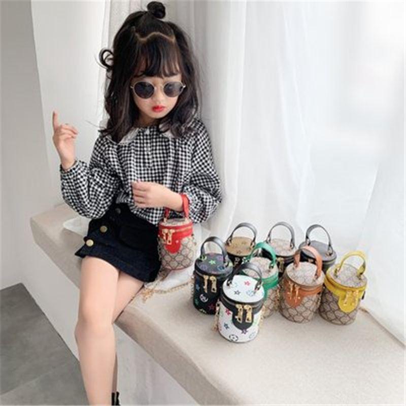 Famosa marca Bolsa de niños Diseñador de bolsos de lujo Bolsa de impresión Cubo Simple Style