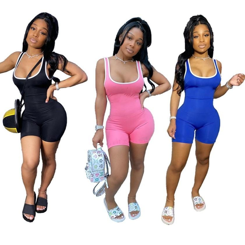 Summer clothes Women Jumpsuits fashion short Rompers skinny vest bodysuits Casual tank top Overalls sexy one piece leggings DHL ship 4736