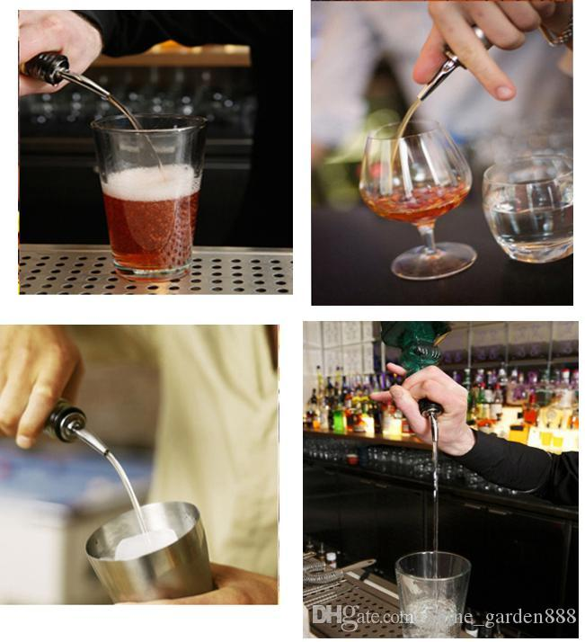 Stainless steel wine bottle pouring device cork bartender home bar party accessories bartending utensils bar accessories