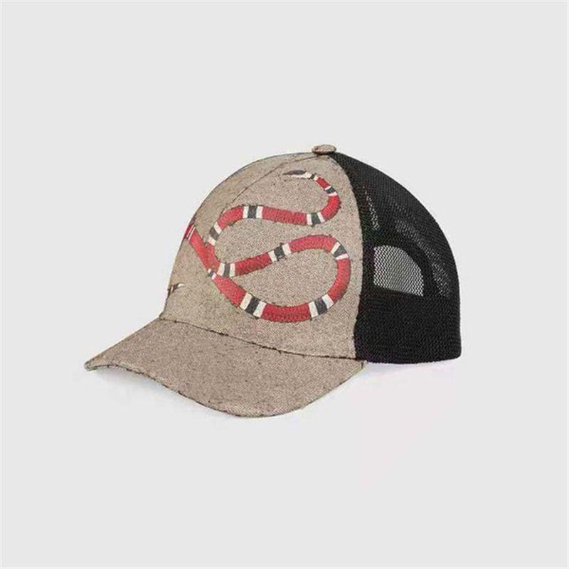 2021 tasarım kaplan baskılı yılan hayvan şapka erkek ve kadın beyzbol şapkası ayarlanabilir golf spor kap 258
