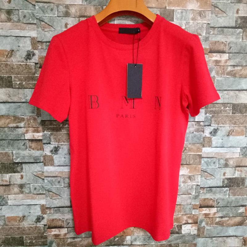 Erkek Mektup Baskı T Shirt Siyah Moda Tasarımcısı Yaz Yüksek Kalite Üst Kısa Kollu Boyutu S-XXL