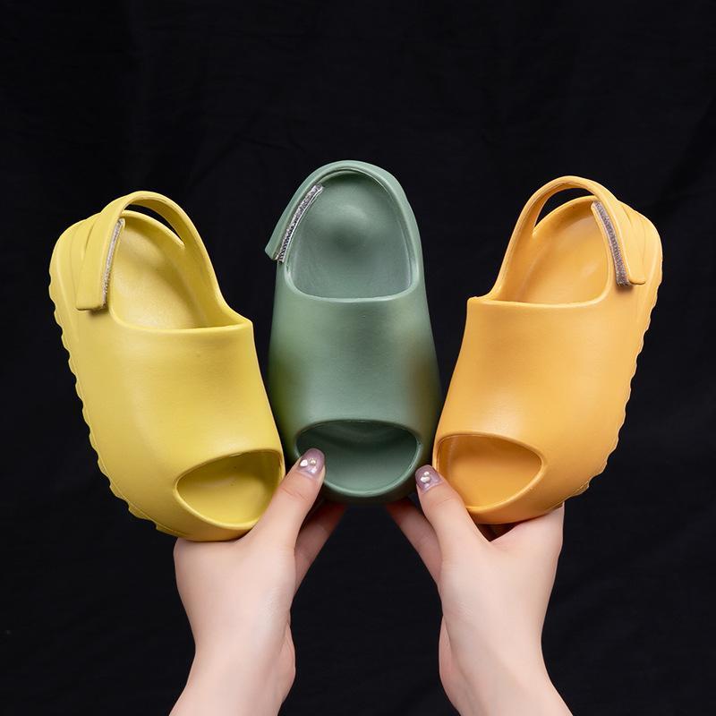 Sandals Children Summer Baby Toddler Little Kids Slippers Slides For Boys Girls Water Foam Beach Pool Resin Bone Groove Shoes