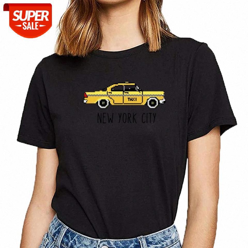 Camiseta Mulheres NYC Checker Cabe Paxi Pixel 8 Bocal Presente para New York Vogue Vintage Feminino Feminino Partido # Uj9J