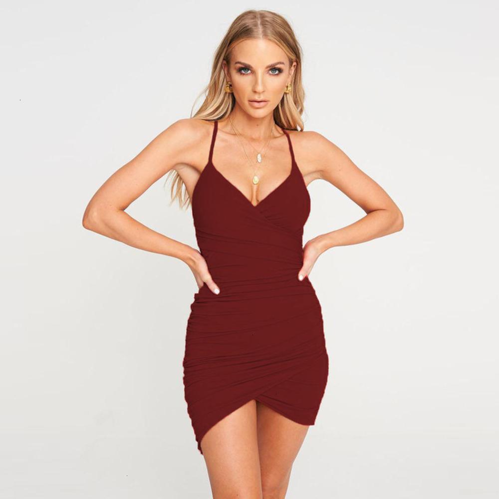 Elbiseler Rahat 2021 Seksi Askı Aç Geri Pileli Drs Yaz Bayan Giyim