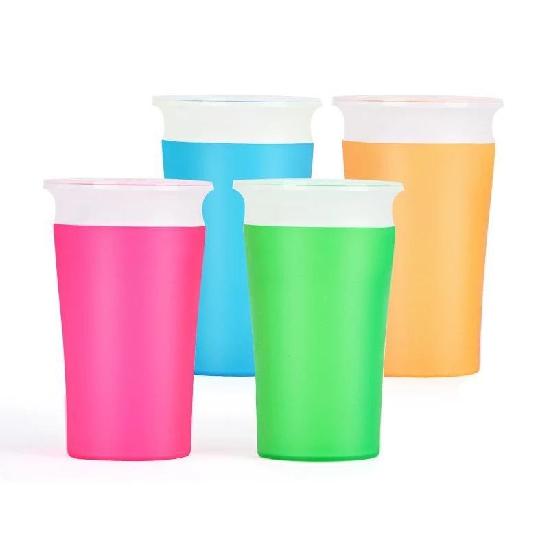 1pc 360 tazze da bambina possono essere ruotate tazza magica bambino apprendimento tazza di bevanda perdite impermeabile per bambini tazza di acqua bottiglia 260ml Copos 1935 Z2