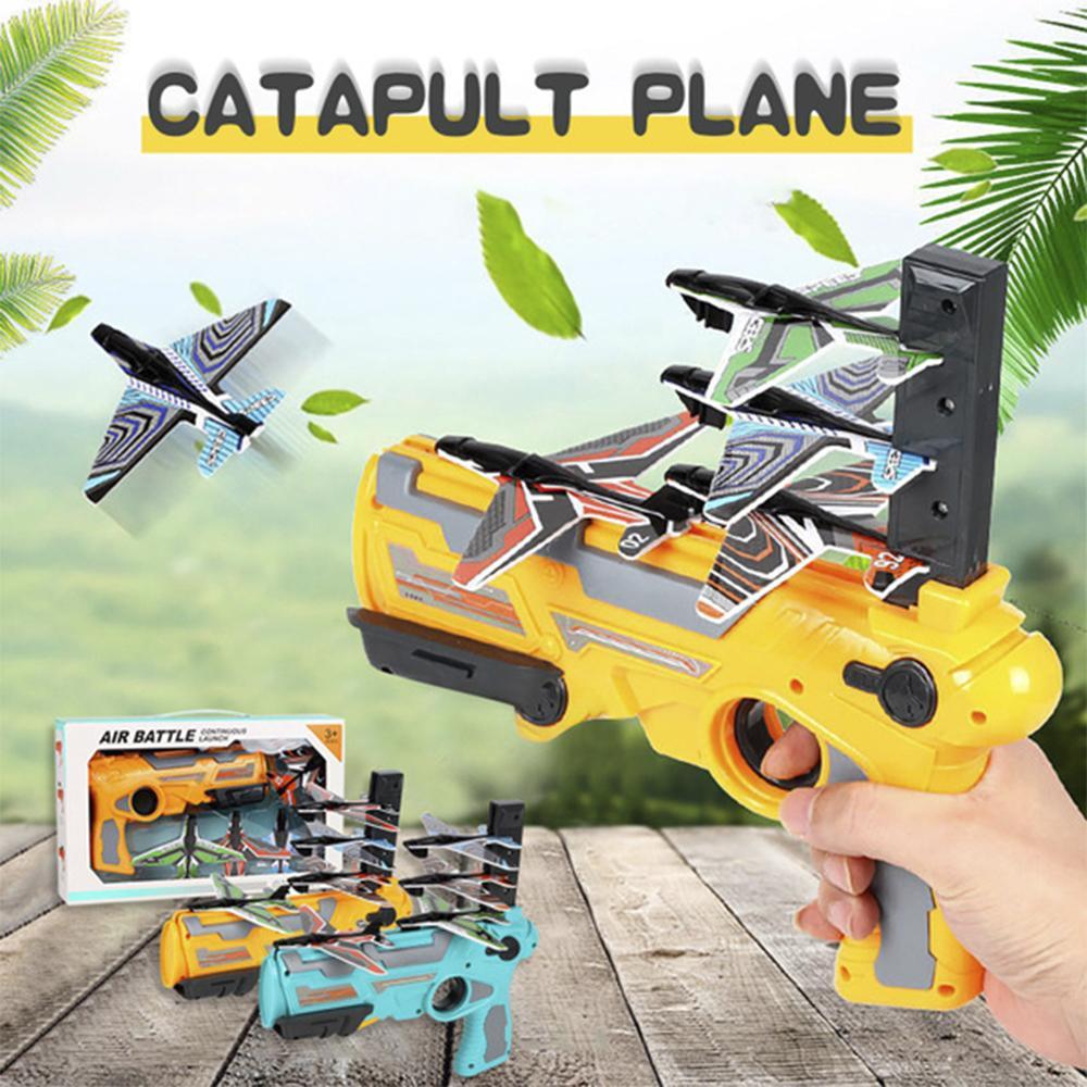 버블 투석기 원 클릭 토이 장난감 총 거품 비행기 모델 무작위 컬러 항공기 키즈 투석기 비행기 용 Dron 액세서리