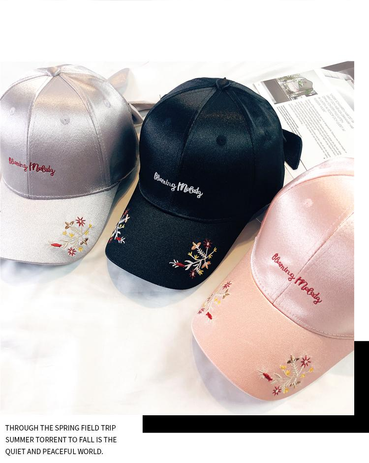Baseball Cap fashion designer summer womens embroidered flowers bow duck beak hat mens sun hats in spring and autumn student caps accessories