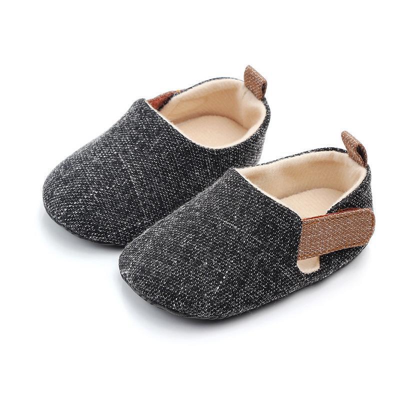 Primeiros caminhantes bebê sapatos infantil crianças sem -lip indoor outono outono soled soled criança