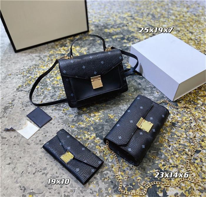 Mujeres Bolsos de hombro Bolsos 3pcs / set Fashion Multi Pochette Accesorios Cadena de alta calidad Lady Crossbody Messenger Bag Bolso Monedero Diseñadores