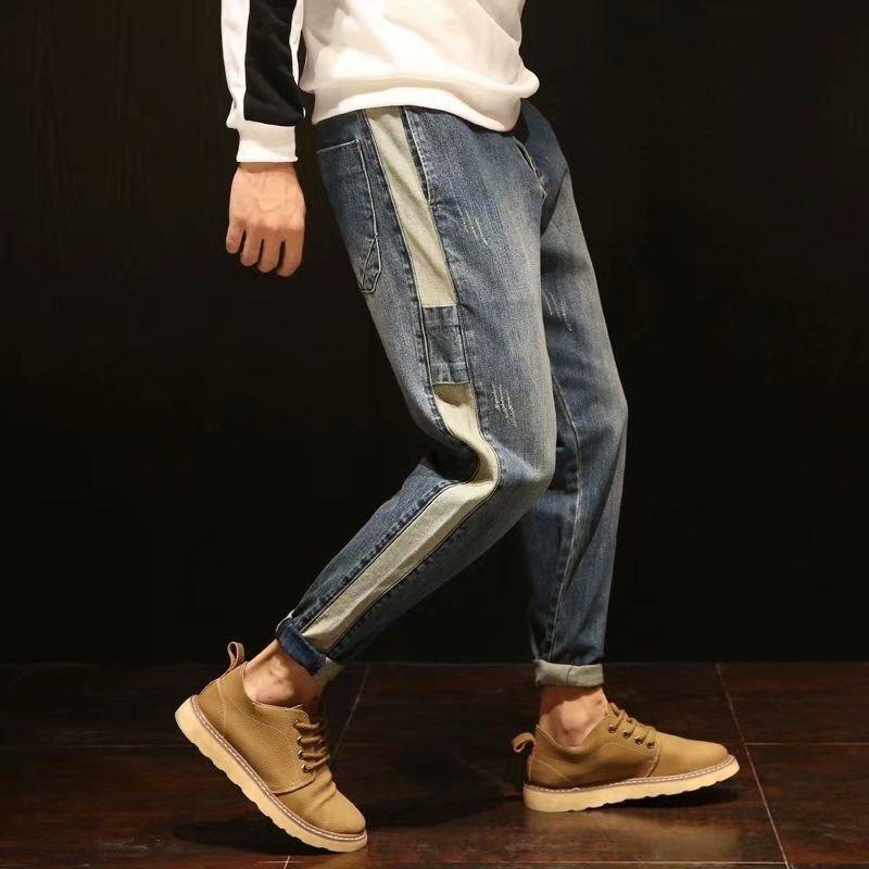 Vintage 2021 Jeans da uomo Primavera Estate Fashion Pantaloni Pantaloni Pantaloni uomo Casual Denim Harem Collage Abbigliamento