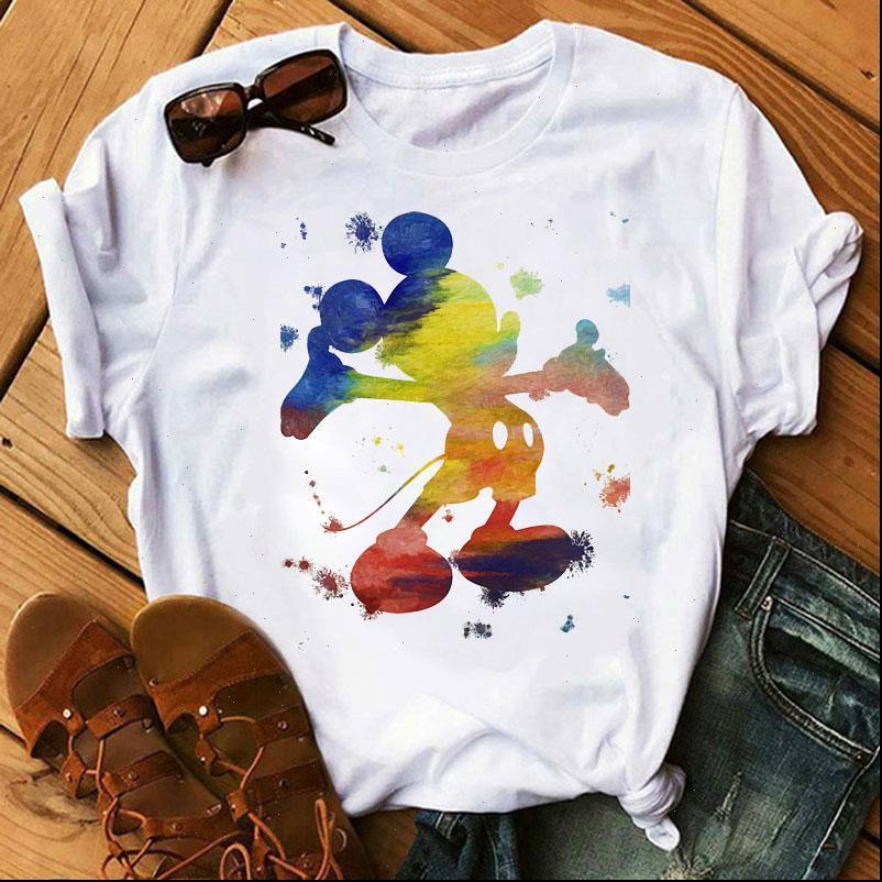 T-shirt womens watercolor topo stampa donna estate moda manica corta tee shirt camicie casual cartoon top vestiti