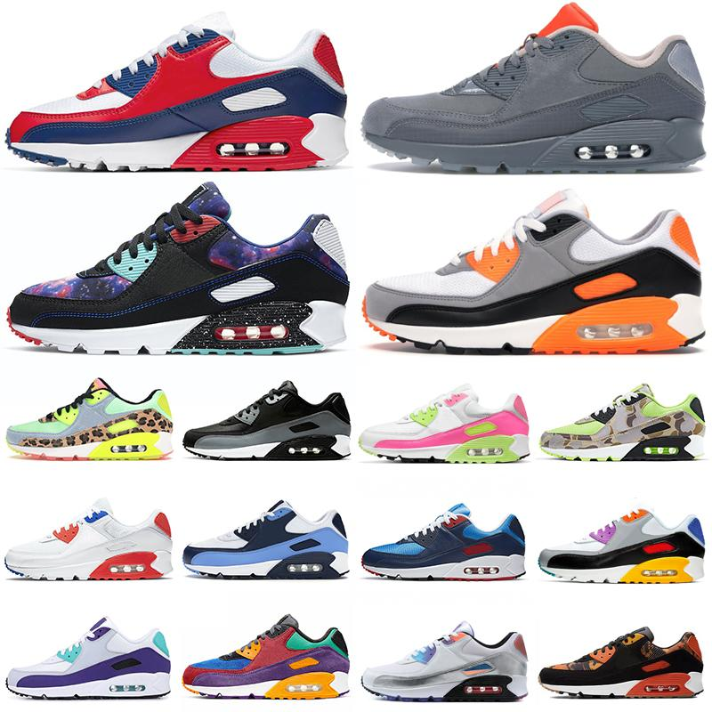 USA 90 chaussures de course hommes femmes chaussures 90s Camo Worldwide Supernova triple blanc noir hommes formateurs Sports de plein air baskets