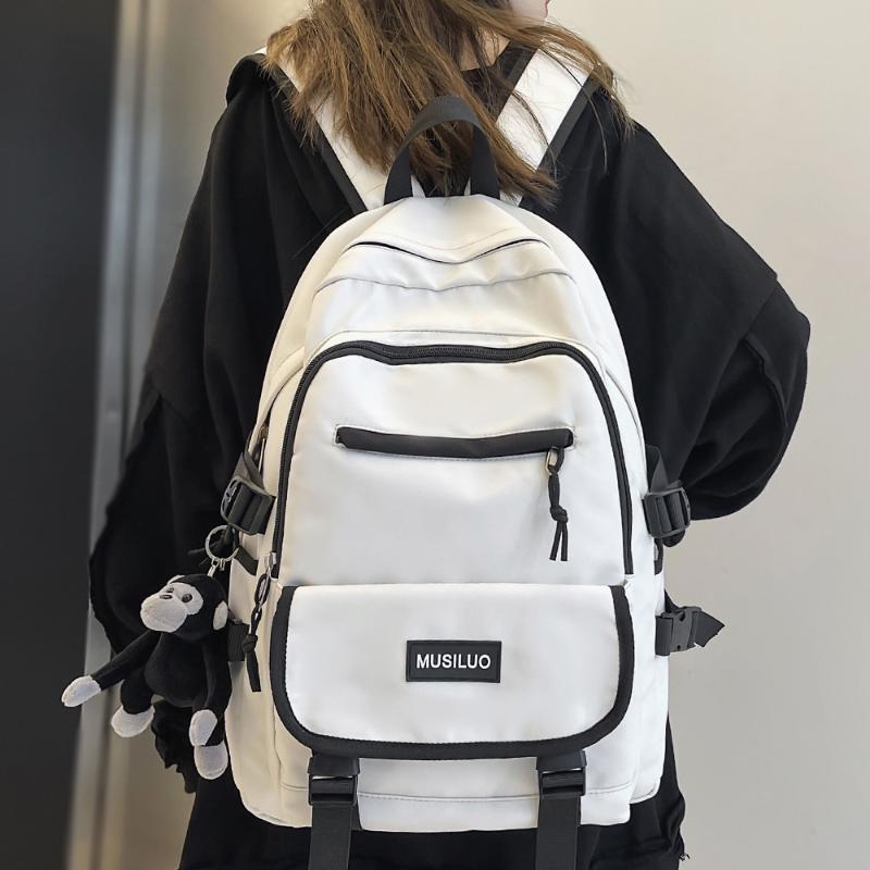 Backpack Fashion Boy Female Waterproof Cool Women Men Bag Harajuku College Lady Travel Girl Cute Laptop Student