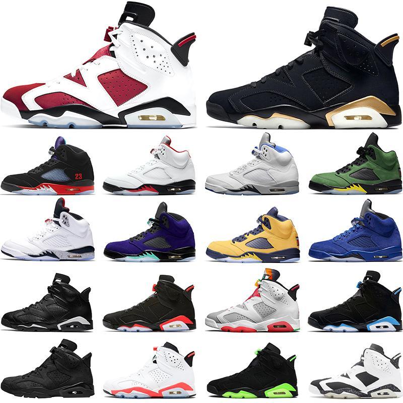 Erkekler Basketbol Ayakkabıları 6 6 S Carmine OG Siyah Kızılötesi DMP UNC OREO Mens Eğitmenler Spor Sneakers Boyutu 40-47