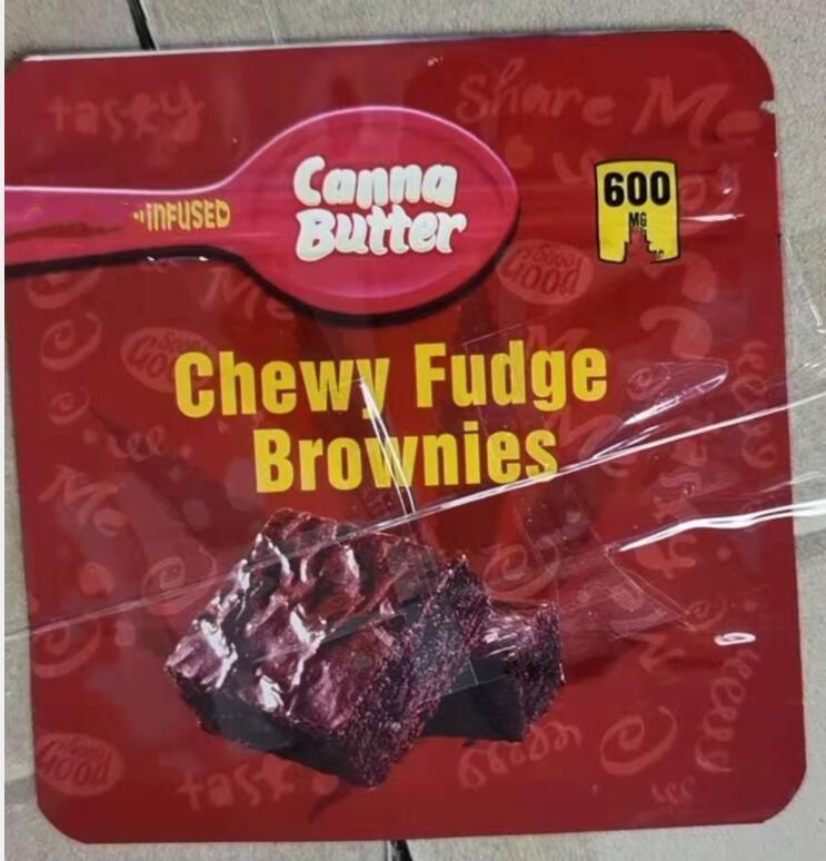 Çikolata Yenilebilir Kek Paketi Mylar Çanta Çikolatalı Yemekler Için Ambalaj Vape Çanta Koku Geçirmez Fermuar Kilidi W GASSET Tam Renkli Baskılı Poly Kaplama Myla Paketleri