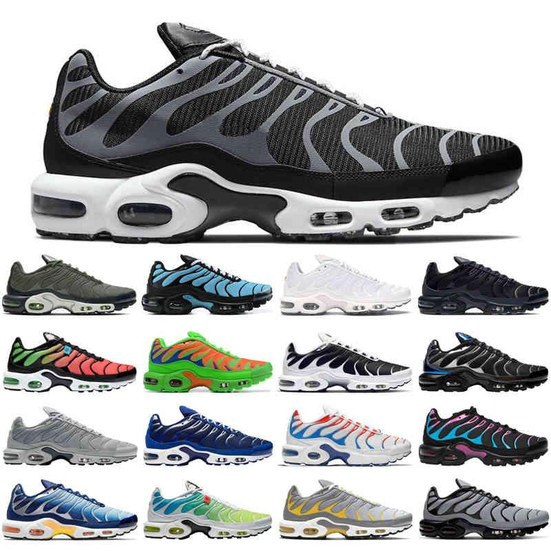 TN Plus SE Hombres Zapatos Running Zapatos Triple Negro Blanco Cráter Psychic Blue Media Green Mens Trainers Sports Sneakers Tamaño 40-46