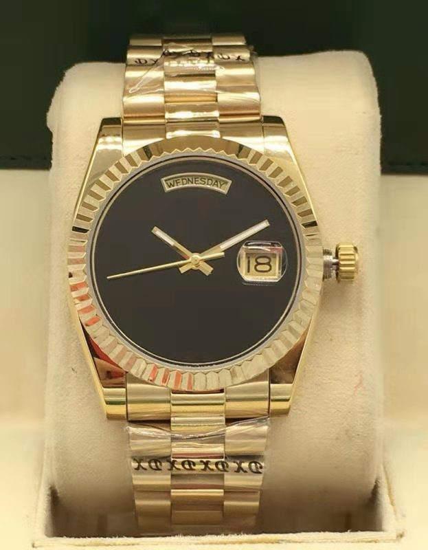 Простая мода для мужчин и женщин 36 мм календарь автоматические механические часы из нержавеющей стали складной пряжки водонепроницаемый