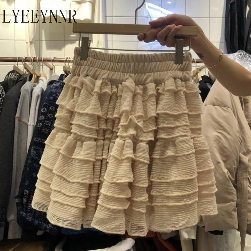 Chic Sweet Minirock Frauen Massivfarbe Sommer Mode Stretch Hohe Taille Röcke Weibliche Jupe Longue Femme