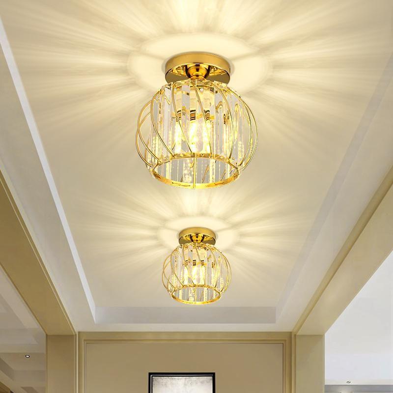 Deckenlichter Kristall LED Moderne Plaflonnier Lampe für Schlafzimmer Wohnzimmer Gang Corridor Eingangshalle Bar E27