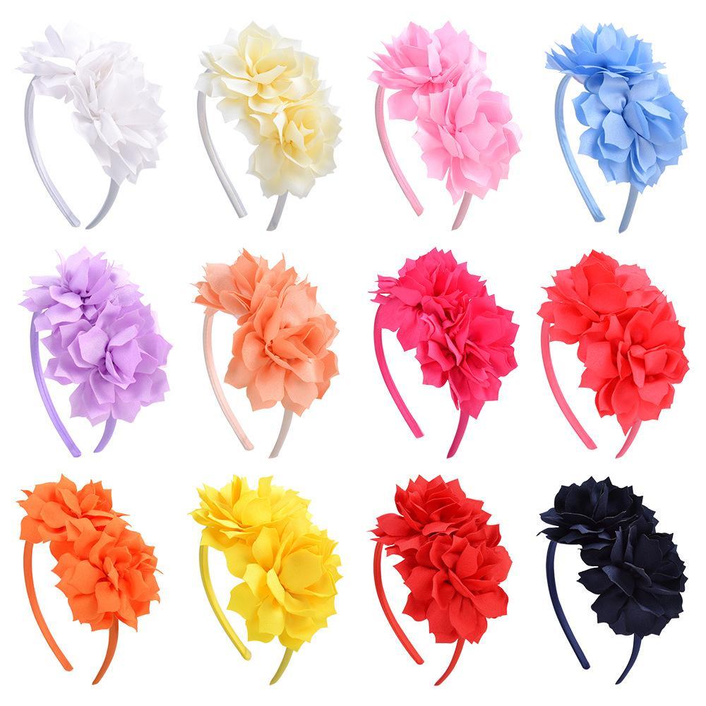 الفتيات العصي الشعر الاطفال زهرة grosgrain الشريط hairbands الأميرة اكسسوارات للشعر الأميرة لطيف هيرباند مع الانحناء أغطية الرأس 4.5 بوصة KFG13