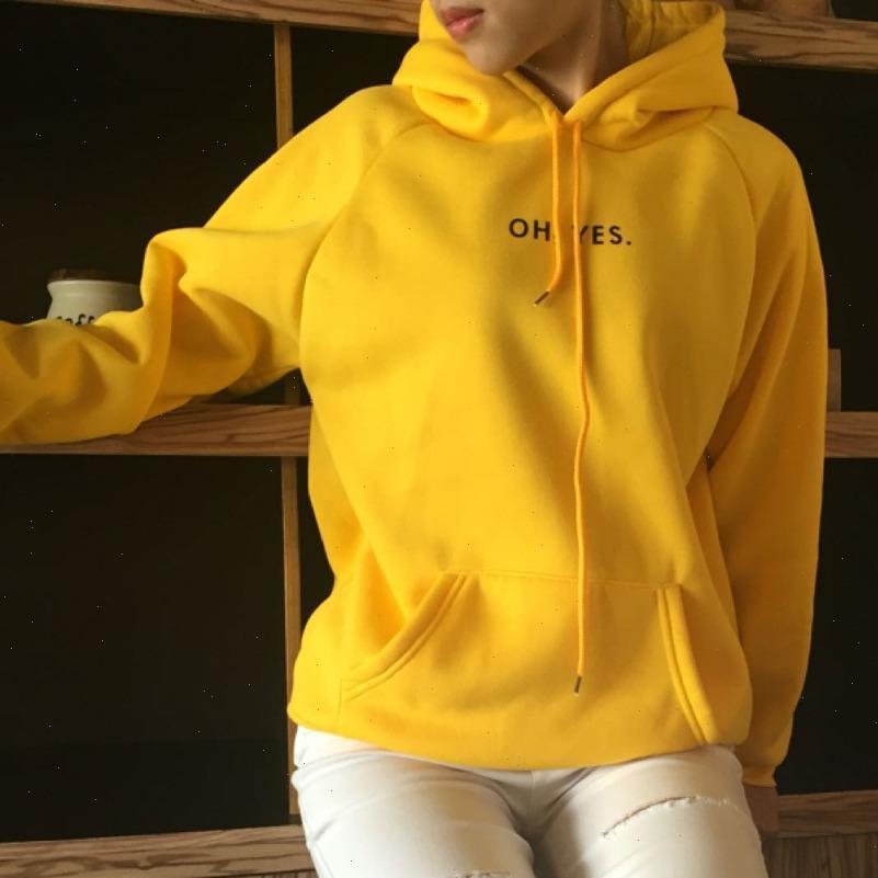 Winter Fashion Corduroy Womens Sweater Long Sleeves Oh Yes Letter Printing Harajuku Girl Light Yellow Pullovers Tops O neck Woman
