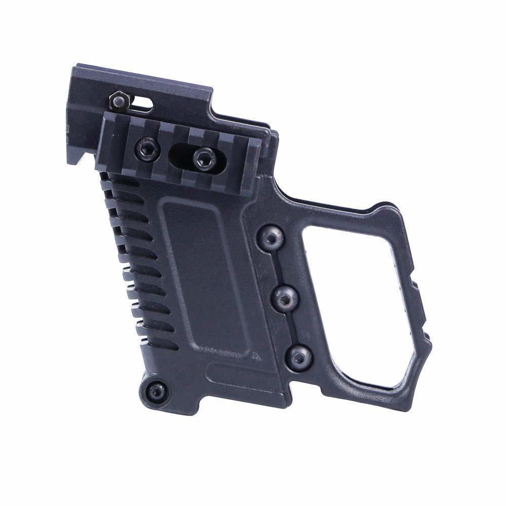 Kit de carabina de pistola táctica ABS Mount W / Panel de riel para G17 G18 G19 GBB Serie Accessorie