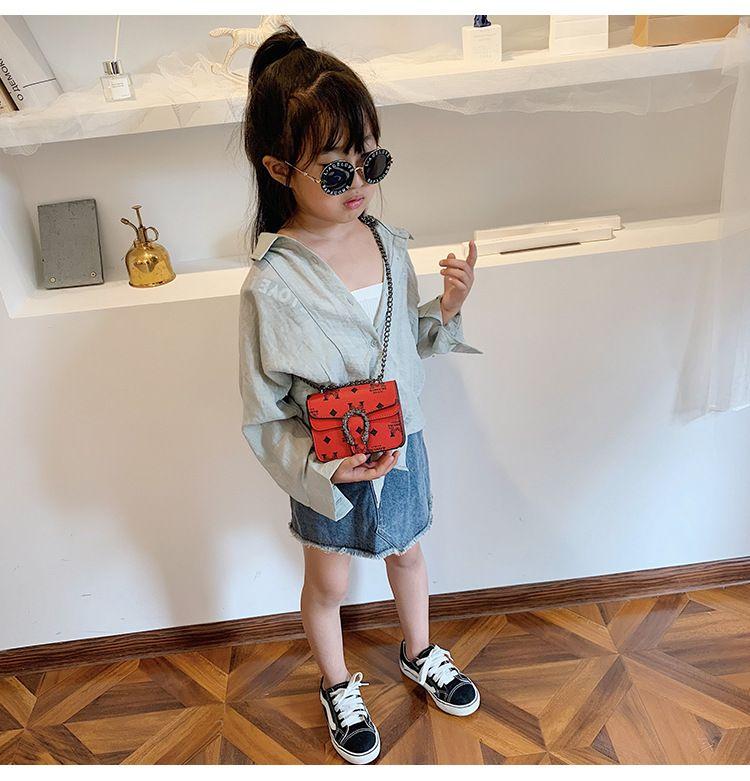 Handbags Classic luxurious PU children's bag shoulder crossbody fashion girls temperament cute girl bags children gift