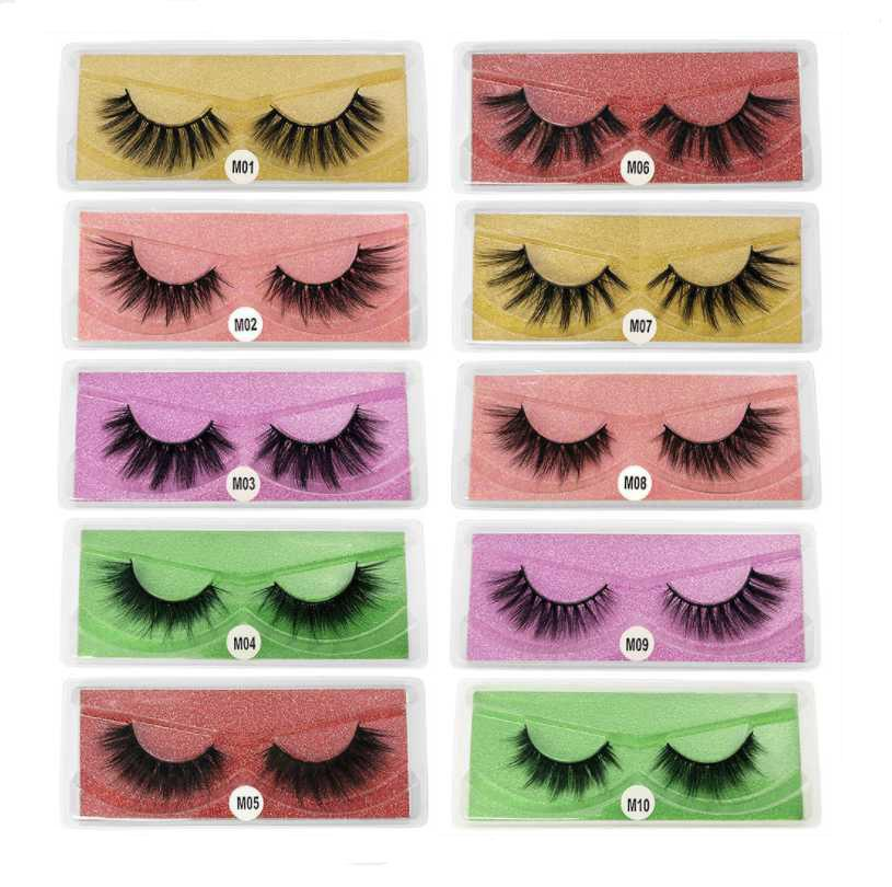 Epack 3d المنك رمش م سلسلة 10 أنماط 5 اللون كاذبة العين لاش الطبيعية سميكة الرموش وهمية ماكياج الرموش تمديد