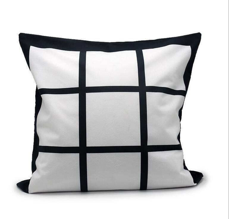 Caso de travesseiro de sublimação em branco estojo preta transferência de calor tiro capa de almofada de almofada home sofá pillowcases 40 * 40cm