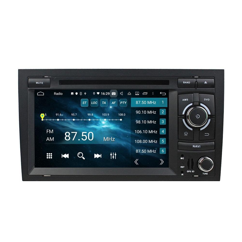"Carplay Android 자동 DSP 2 DIN 7 ""PX6 Android 10 자동차 DVD 플레이어 스테레오 라디오 GPS 네비게이션 블루투스 5.0 WIFI Audi A4 S4 RS4 2002-2008"