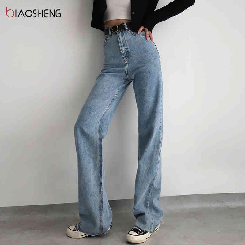 Maman Femme Jeans Femme Taille haute 2020 Undefinefinhed Baggy Oversize Pantalon de denim Loet Lâche Fashion Y2K Pantalon de droite