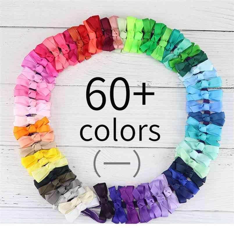 Bebek Kız Hairbands Çocuk Şeker Renk Ilmek Barrettes Bantlar Çocuk Kız Saç Yaylar Bir Kelime Klipleri Headdress Aksesuarları G4EMFW8