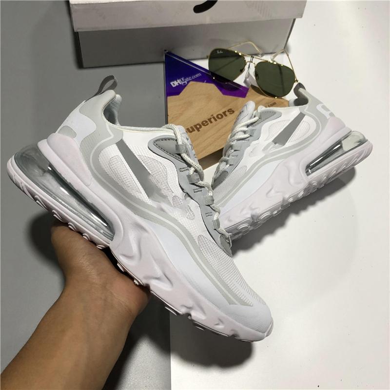 En kaliteli 270 mesh reaksiyona girer erkekler spor koşu ayakkabıları nefes kaktüs yolları eng bauhaus 27c erkek bayan yastık spor eğitmenler sneakers chaussures kutusu ile