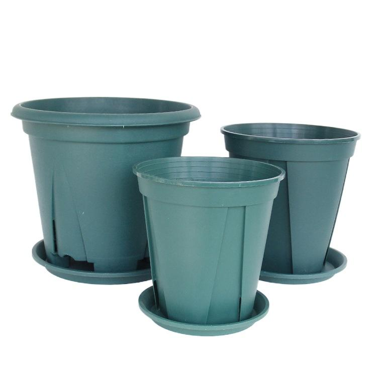 2021 Thickened round-pots with root-controlled green hill pot rose large-caliber orchid pots plastic flower pots