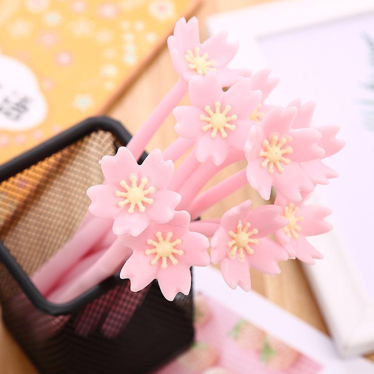6 шт. Лот Kawaiibea Cherry Blossom Гель Ручка Девушка Сердце Серия Симпатичные Ручки Офис Канцтовары Студенты