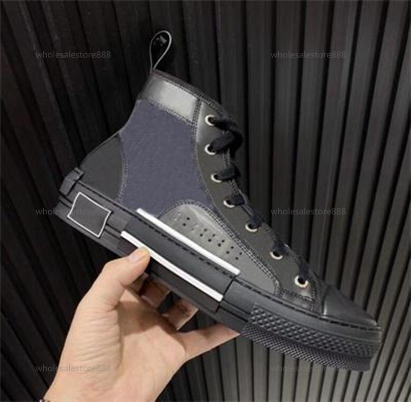 Christian Dior D'or 2021 Moda Mujer B2 Blue Oblique Técnico Técnico Mid-Top Sneaker Tela Malla Floral Zapatillas para caminar B23 Canvas Cruise Coster Casual NVF