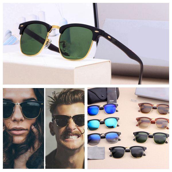 2021 Lüks Yeni Marka Polarize Güneş Erkekler Kadınlar Pilot Güneş Gözlüğü UV400 Gözlük Gözlük Metal Çerçeve Polaroid Lens