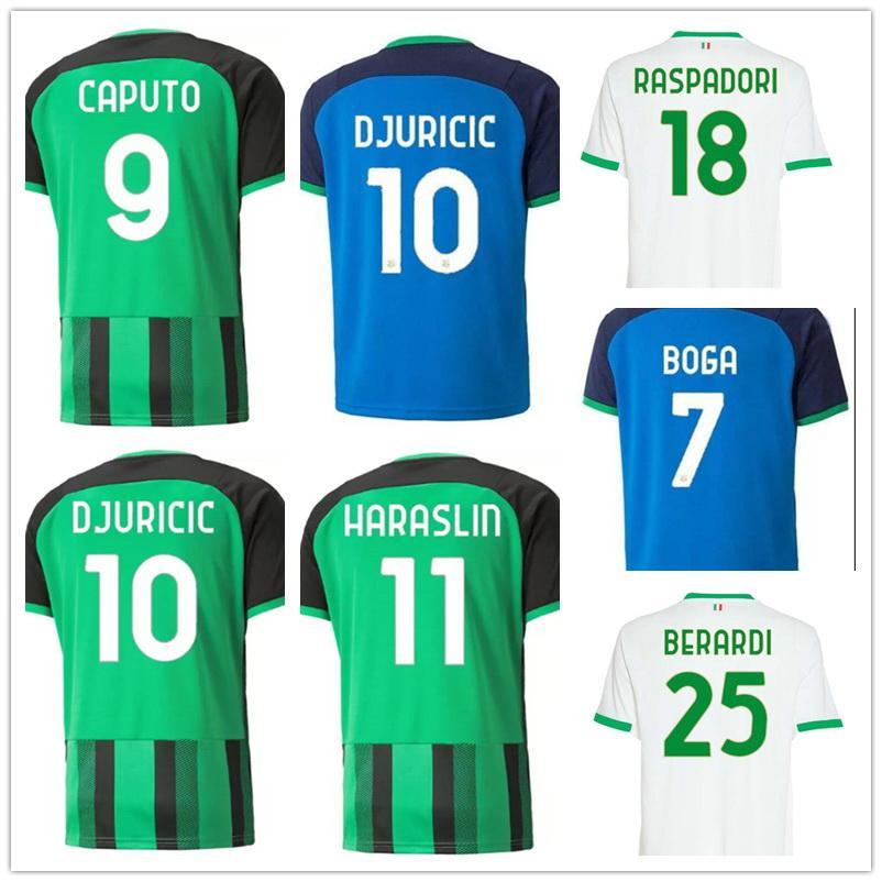 21-22 Sassuolo Calcio Thai Quality Soccer Jersey shirts MATRI 10 SERNICOLA 17 BOGA 20 BERARDI 25 PRINCE 27 BABACAR 30 Customized Hom wear