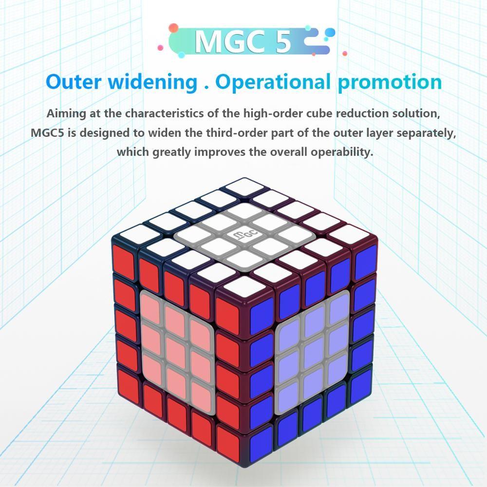 Yongjun MGC 5x5x5 마그네틱 매직 속도 YJ 큐브 MGC5 자석 속도 5x5 큐브 교육 완구 MGC 5