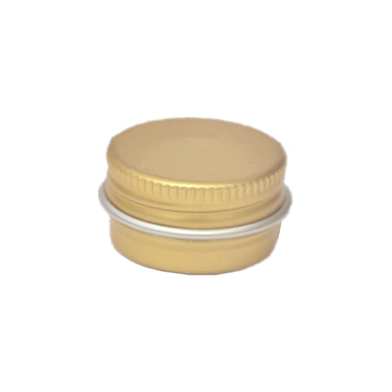 Storage Bottles & Jars Wholesale 5g Aluminum Boxes Cream Tins Small Colored Sample Gold Case DIY Cosmetic Refillable Box