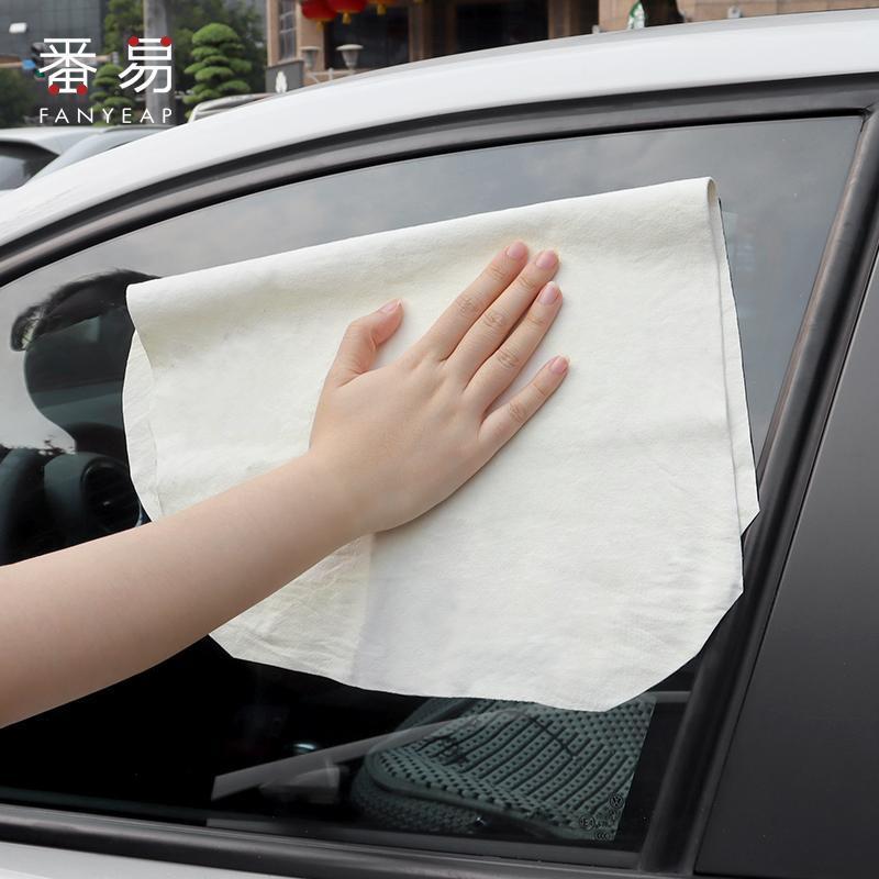 Chamois 가죽 자동차 청소 천으로 정품 세척 스웨이드 흡수성 빠른 건조 수건 줄무늬 무료 보푸라기 스폰지