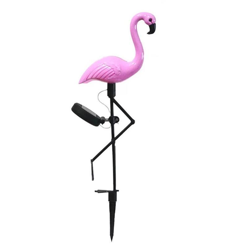 Çim Lambaları 1 adet LED Flamingo Su Geçirmez Güneş Işık Açık Bahçe Dekorasyon Kat Manzara Işıkları