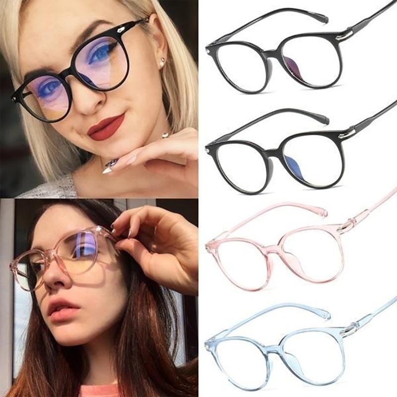 Sunglasses Transparent Arrow Plain Glasses PC Glass Spectacles Vintage Eyeglass Round Frame