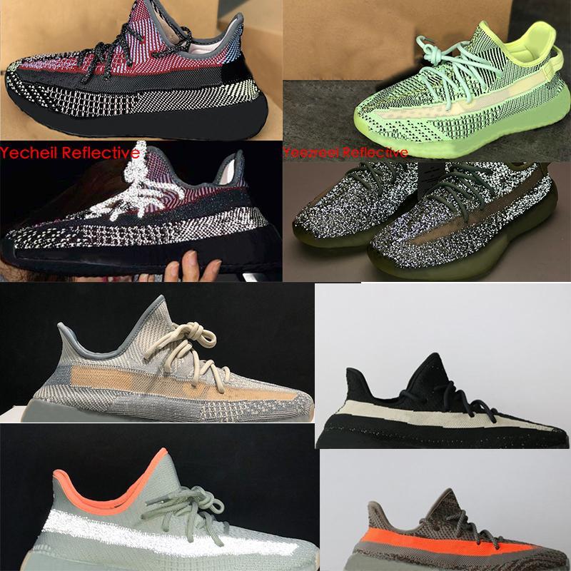 Tasarımcı ayakkabı batı 700 çizmeler statik refleksi sneakers dalga koşucu ayakkabı tereyağı zebra ekmek oreos eğitmenler SZ ABD 5-13