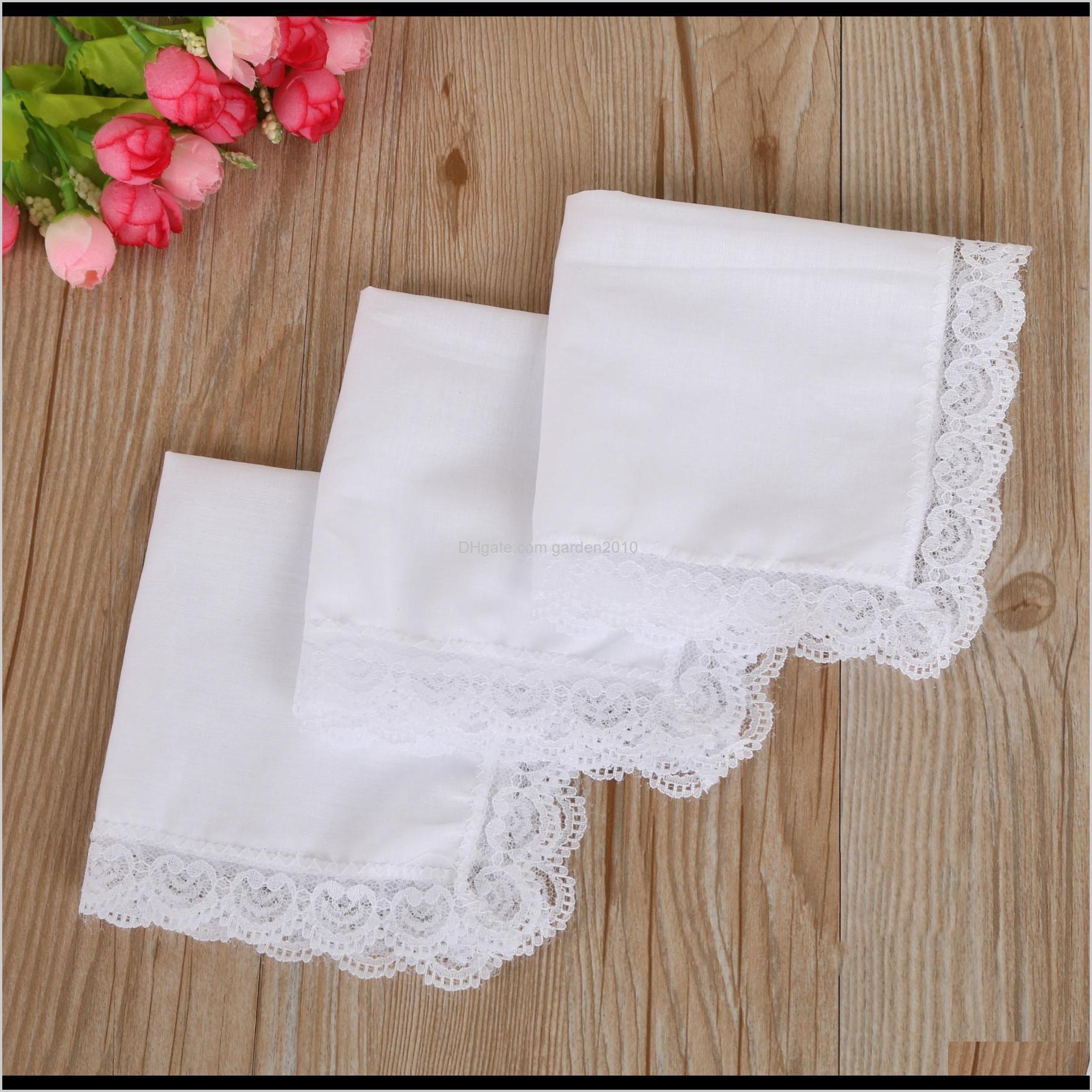 White Lace Thin Woman Wedding Gifts Party Decoration Cloth Napkins Plain Blank Diy Handkerchief Hha2096 Imsuz Bmpxc