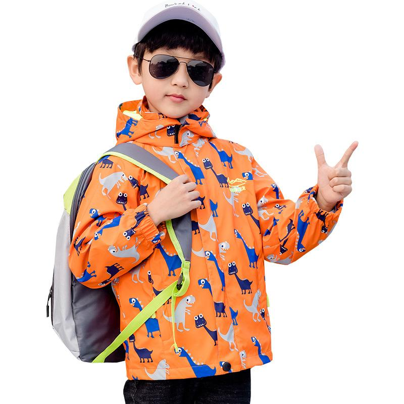 Çocuk Ceketler Kapüşonlu Su Geçirmez Rüzgarlıklı Bahar Ceket Kızlar Için Dinozor Çocuklar Toddler Yağmurluk Ceket Erkek Giyim 1041 V2