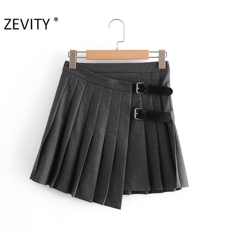 Femmes Sweet Boucle Décoration Solide Plissé Mini Jupe Faldas Mujer Angleterre Style Femme Casual Slim Chic Vestido Qun703 210420