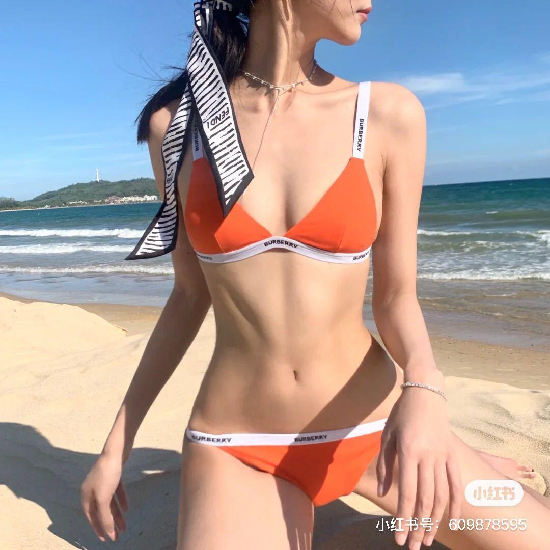 swimwear designers Women luxurys Yoyo sauce bur * orange letters simple proportional holiday Bikini Set